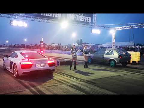 VW Pfingstttreffen Bautzen 2019 - Nightrace 1/8 Meile - Dragrace - Wild Wild East - Turbo Sound